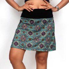falda hippie corta de mandalas, verde foto principal