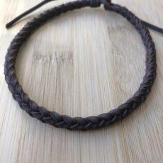 Tobillera trenzada de cuero de 6 cuerdas, foto principal