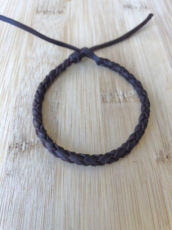 pulsera trenzada redonda de cuero de 4 cuerdas, foto 2