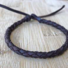 pulsera trenzada redonda de cuero de 6 cuerdas, foto principal
