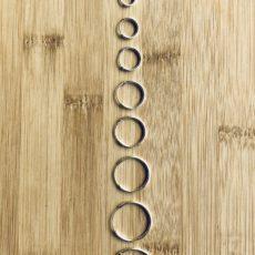 Pendientes de aro de plata de ley 925, grosor 1,5mm