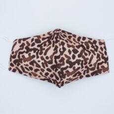 Mascarilla higiénica leopardo rosa claro