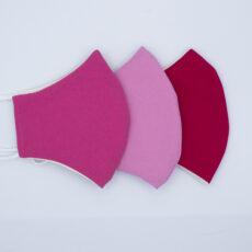Mascarillas higiénicas reutilizables lisas rosas