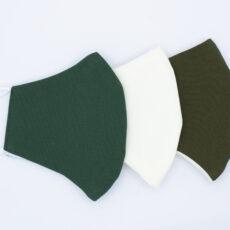 Mascarillas higiénicas reutilizables lisas verdes