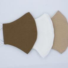 Mascarillas higiénicas reutilizable lisas marrones