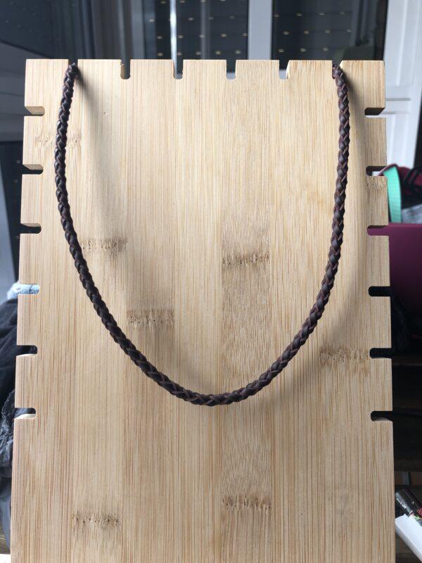 collar de cuero redondo de 4 tiras